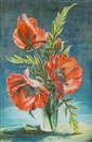 Stuart M. Armfield, Vase of poppies