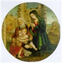 Follower Of Filippo (Filippino) Lippi, Sacra Famiglia con San Giovannino