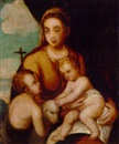 Italian School-Umbrian (16), The Madonna and Child with the Infant Saint John the Baptist