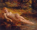 John Valentine, A nude reclining by the edge of a woodland pool