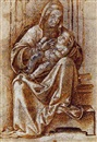Attributed To Antonio Badile, Vierge à l'Enfant