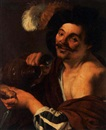 Follower Of Hendrick ter Brugghen, A man with a tankard and bread