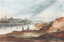 Thomas H. Hair, View of Newcastle-upon-Tyne from the banks of the Tyne