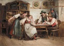 Ferdinand Pacher, The guessing game