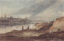 Thomas H. Hair, View of Newcastle upon Tyne from the banks of the Tyne