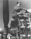 Tony Vaccaro, Airplane mechanic keeping the motors in top shape, Celle (Einstellung eines Motors)