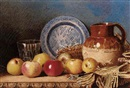 Benjamin Walter Spiers, Still-life with a jug, glass and apples