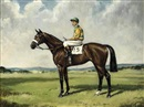 "Richard Anscomb, ""Harden Ridden"", with Charlie Smirke up, in the colours of Sir Victor Sassoon"