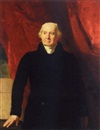 Andrew Geddes, Portrait of Sir John Marjoribanks wearing a black coat