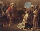 Circle Of Hendrick ter Brugghen, Athenais confronted by her husband Theodosius II