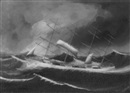 Kwong Sang, Ship in stormy seas, Calcutta