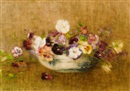 Constance Walton, Still life of pansies