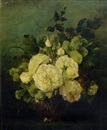 Adrienne Jacqueline 's Jacob, White roses in a glass vase