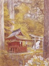 Henry Roderick Newman, Pagoda in the woods, Nikko, Japan