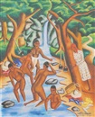 Castera Bazile, Bathers in a stream
