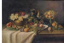 Franz Rund, Still life with fruit and flowers