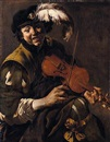 Hendrick ter Brugghen, A youth playing the violin