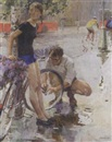 Viktor Aleksandrovich Tsvetkov, The bicycle ride