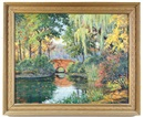 Harold Woodford Pond, Landscape with bridge