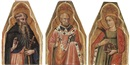 Master of Teplice, Saint Anthony; Saint Nichola; and Saint Catherine