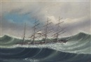 "Kwong Sang, The barque ""Amazon"" weathering a severe storm"