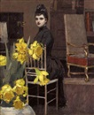 William Sullivant Vanderbilt Allen, In the music room with daffodils