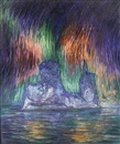Frank Wilbert Stokes, Iceberg with the aurora borealis