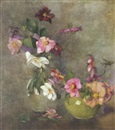 Constance Walton, Still life of dahlias