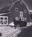 John Vachon, Sleigh on a farm near Burke, VI