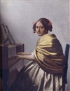 Johannes (van Delft) Vermeer, A young woman seated at the virginals
