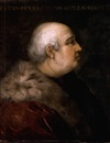 Follower Of Cristofano di Papi dell' Altissimo, Portrait of Pier Francesco di Lorenzo di Bicci de'Medici wearing a fur-collared crimson coat