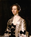 Henry Pickering, Portrait of a lady wearing a white satin dress with black bows