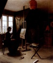 Arsen, Artist in her studio