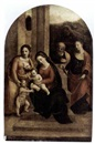 Follower Of Benvenuto Tisi da Garofalo, The Holy Family with Saint Agnes, Saint John the Baptist and Saint Agatha