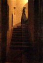 Caspar David Friedrich, Caroline auf der Treppe (Caroline on the stair)