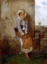 Polychronis Lembessis, A seated young girl