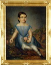 Daniel F. Ames, Portrait of a small child with pink rose