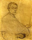 Philip Leslie Hale, Self-portrait (study)