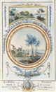 Zacharie-Felix Doumet, Design for a trompe l'oeil wall decoration with two landscape vignettes set in garlanded panels