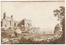 Carlo Labruzzi, Italian landscapes with classical ruins (pair)