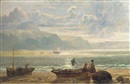 John Wright Oakes, Fisherfolk on a beach