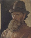 Allan Douglas Davidson, Study of a bearded man