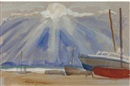 Jean Alexander, Stormy sunset, Aldeburgh (+ 7 others; 8 works)