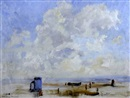 Edward Holroyd Pearce, Beach scene, Suffolk shore