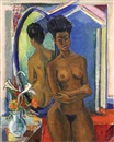 Arthur Kaufmann, Nude before a mirror