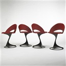 Santiago Calatrava, Chairs from the Tabourettli Theatre (set of 4)