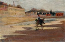 Alexandre Kaloudis, View of Athens from Pireaus Avenue