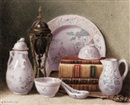 Benjamin Walter Spiers, Still life of china and books