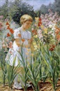 J. Winthrop Andrews, Girl picking flowers