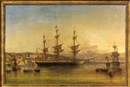 George Atkinson, Three-masted ship in a harbor